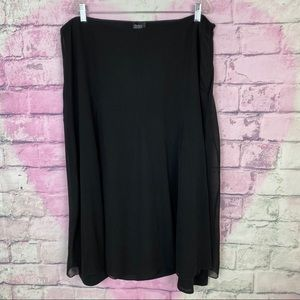 Eileen fisher 100% silk flute style midi skirt XL